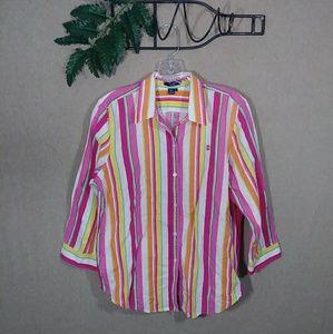 Chaps button down shirt linen large